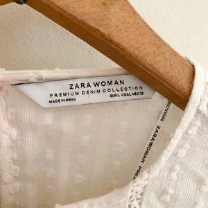 Zara Tops - ZARA Ruffle Feminine Detail Blouse Bell Sleeves L